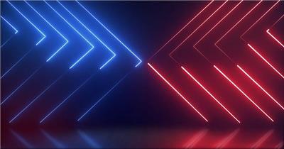 红蓝光线背景视频