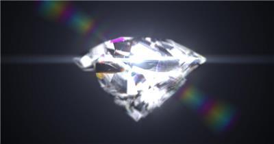 华美钻石破碎年会标题视频AE模板