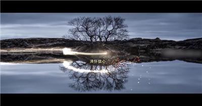 大气光束穿梭年会片头视频AE模板