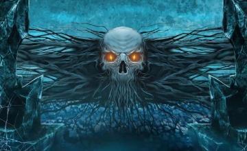 万圣节开场视频鬼屋墓地南瓜蝙蝠幽灵恐怖游戏电影