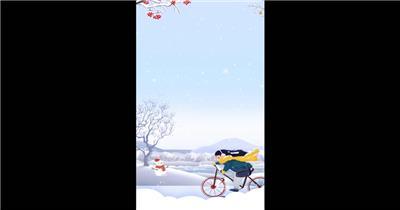 立冬冬季季节片头小视频AE模板