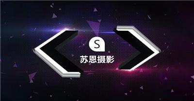 S-005-三维箭头企业Logo演绎片头Pr模板