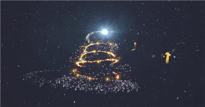 圣诞快乐粒子大气片头AE模板