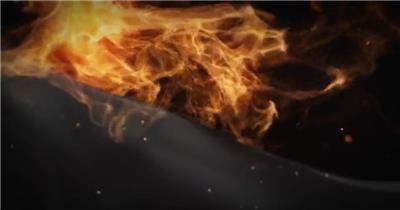 奔跑着的火焰烈马和创意揭示开场动画