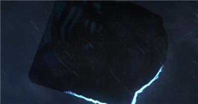 撼闪电风暴中的能量标志入场特效