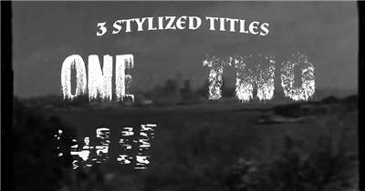 像怪物来临一样的复古恐怖文字标题特效含3种样式