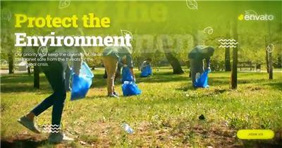 拯救地球,保护自然生态环境的公益广告幻灯片展示