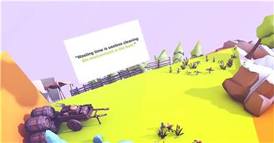 保护地球创意低多边形三维地球展示动画