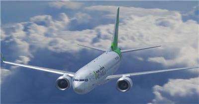 天空之旅结合插件从不同的角度对飞机模型进行展示