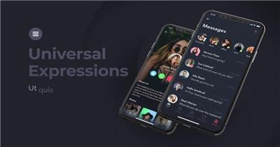 简洁干净的黑色主题移动手机应用程序宣传演示视频