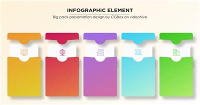 可用于信息内容演示说明的图形元素动画包,以流程图为主