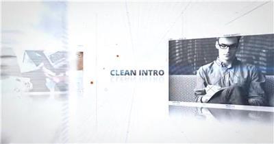 在白色网格空间中不断后退展示的图像和开场片头
