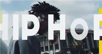 动感嘻哈城市或极限运动剪辑的宣传视频