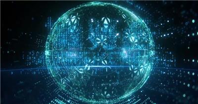 中国国际进口博览会科技感片头AE模板