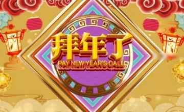 杏黄古典新春元素贺岁快闪拜年PR视频模板