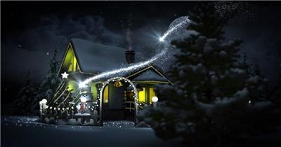 粒子光效圣诞片头AE模板