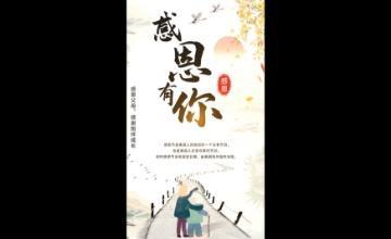 中国风感恩有你感恩节视频海报