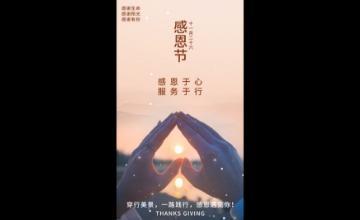 感恩节节日摄影图视频海报1