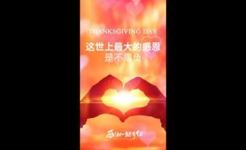 感恩节慈善爱心公益竖版视频海报