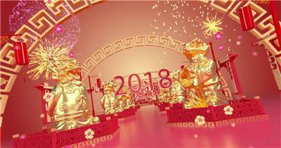 2021牛年春节新年春晚片头视频素材