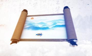 E3D中国风城市穿梭水墨片头AE模板