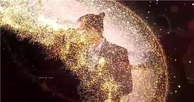 华丽粒子星光装饰的婚礼主题包装AE模板,含幻灯片、字幕条等