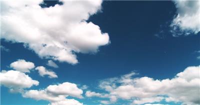 蓝天白云大晴天高清素材